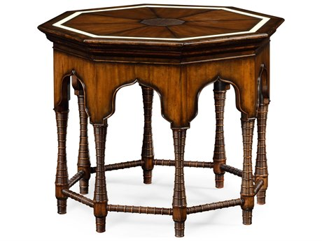 Jonathan Charles Moroccan collection Rustic Walnut Finish With Light Distressing Foyer Table JC495300RWL