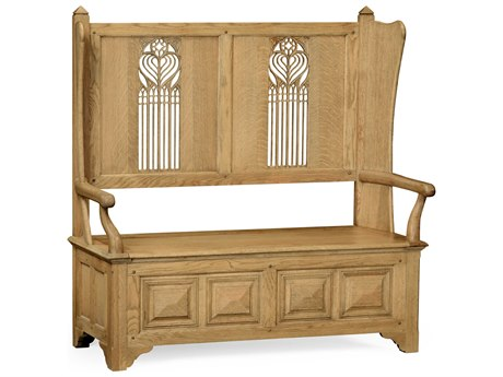 Jonathan Charles Natural Oak Light Natural Oak Accent Bench
