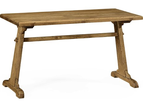 Jonathan Charles Natural Oak Natural Light Oak On Veneer 52 x 26 Rectangular Counter Dining Table JC49444052LLNO