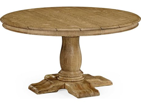 Jonathan Charles Natural Oak Light Natural Oak 54'' Round to Oval Dining Table