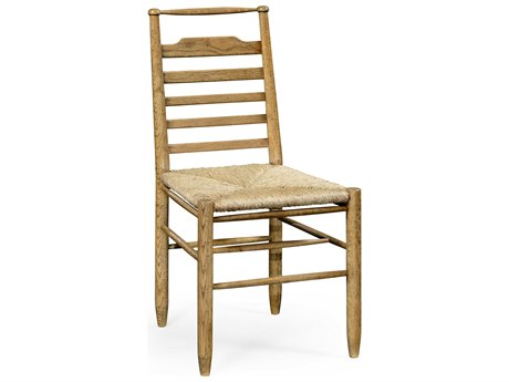 Jonathan Charles Natural Oak Antique Bronze Finish On Metal Accent Chair