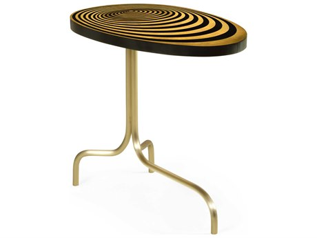 Jonathan Charles Op Art 28'' Wide Oval End Table