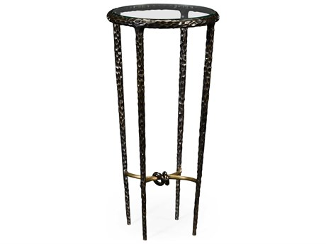 Jonathan Charles Stiletto Antique Black With Highlight 13 Round Bar Table JC495025BRO