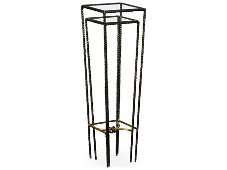 Jonathan Charles Stiletto Antique Black With Highlight 12 Square Nesting Table JC495029BRO