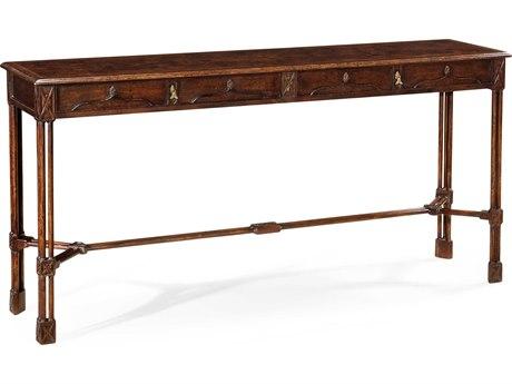 Jonathan Charles Tribeca Dark American Crotch Walnut 72 x 17 Rectangular Console Table