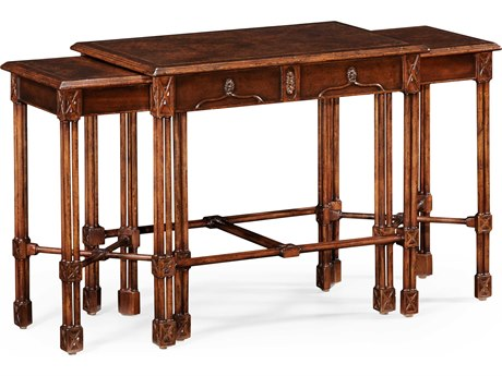 Jonathan Charles Tribeca Medium American Crotch Walnut 29 x 18 Rectangular Console Table