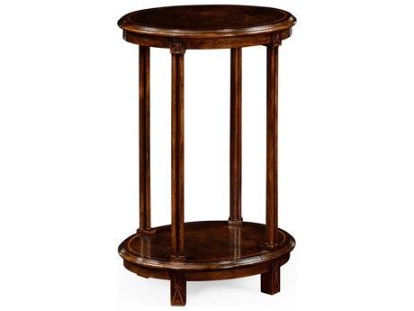 Jonathan Charles Tribeca Dark American Crotch Walnut 18 x 13 Oval End Table