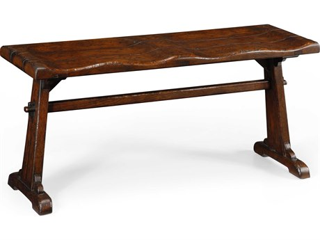 Jonathan Charles Tudor Oak Dark Brown Tudor Oak Accent Bench JC494441TDO