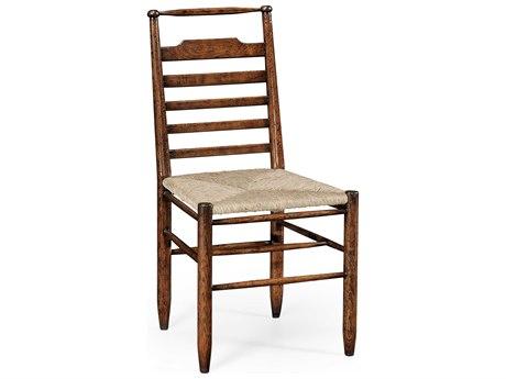 Jonathan Charles Tudor Oak Gilded Antique Silver-Leaf Dining Chair