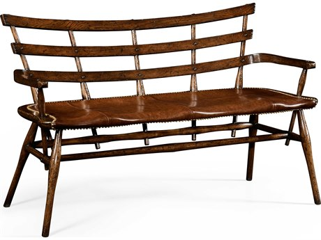 Jonathan Charles Tudor Oak Limed Tulip Wood With Carved Floral Detail Accent Bench