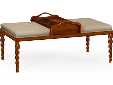 Jonathan Charles Twist Light Walnut Accent Bench