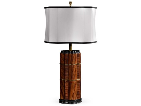 Jonathan Charles Twist collection Tropical Walnut Crotch Table Lamp