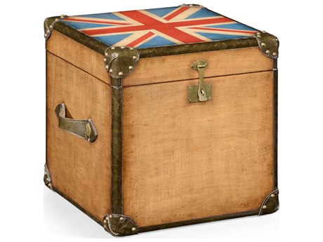 Jonathan Charles Union Jack Light Walnut Square Trunk JC494434WLL