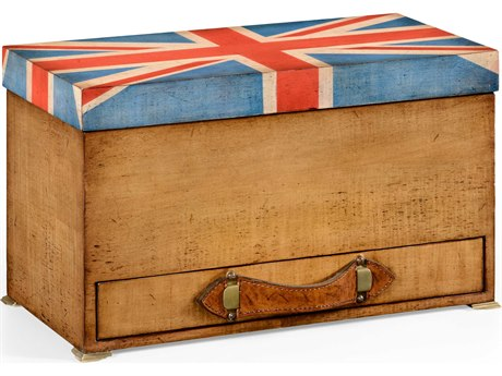 Jonathan Charles Union Jack Light Walnut Decorate Accent