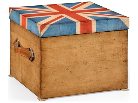 Jonathan Charles Union Jack Light Burr Walnut With Seaweed Inlay Decorate Accent
