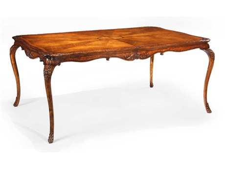 Jonathan Charles Versailles Medium Satinwood 72.5 x 47.5 Rectangular Dining Table