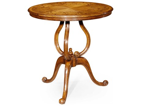 Jonathan Charles Versailles Medium Satinwood 29 Round End Table