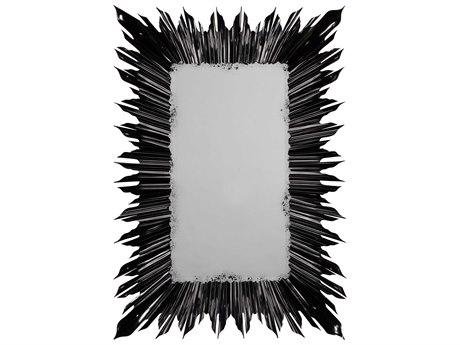 Jonathan Charles Versailles 36 x 52 Painted Formal Black Floor Mirror