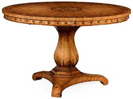 Jonathan Charles Versailles Light Satinwood 48 Round Foyer Table JC495058SAL