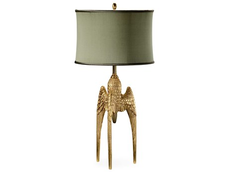 Jonathan Charles Versailles Light Antique Gold-Leaf With Carved Floral Detail Table Lamp JC495107GIL