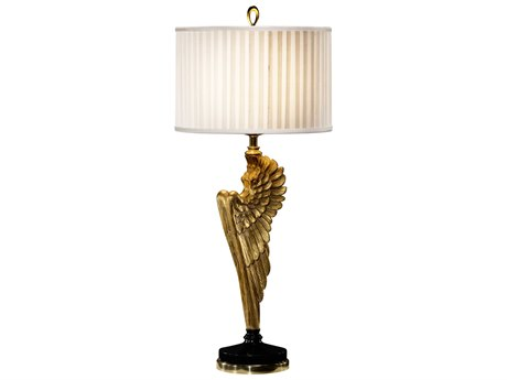 Jonathan Charles Versailles Light Antique Gold-Leaf With Carved Floral Detail Table Lamp JC495118GIL