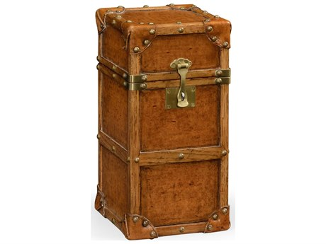 Jonathan Charles Voyager Collection Leather Antique Chestnut Medium Solvent  Base Trunk JC495239L002