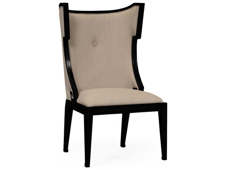 Jonathan Charles Windsor Painted Formal Black Accent Chair JC495047SCBLAF001