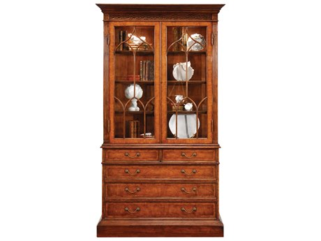 Jonathan Charles Windsor Medium Crotch Walnut Chest Cabinet
