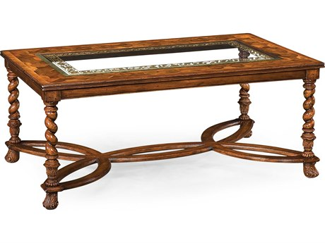 Jonathan Charles Windsor Medium Walnut 52.5 x 32 Rectangular Coffee Table