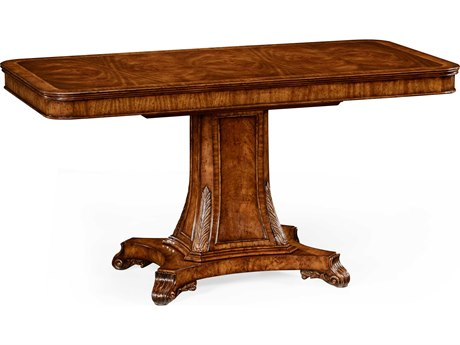 Jonathan Charles Windsor Medium Crotch Walnut 59 x 29.5 Rectangular Console Table