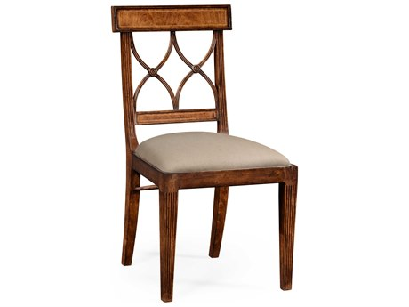 Jonathan Charles Windsor Medium Crotch Walnut Dining Chair JC494347SCCWMF001