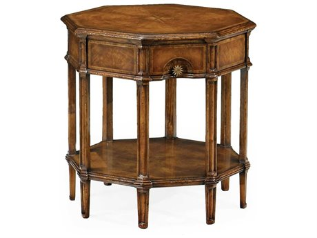 Jonathan Charles Windsor Medium Crotch Walnut 24 Octagon End Table