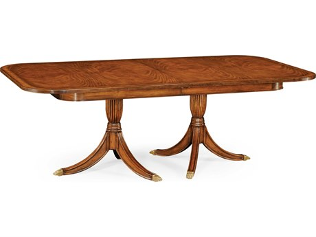 Jonathan Charles Windsor Medium Crotch Walnut 88 x 48 Rectangular Extending Foyer Table JC49286588LCWM