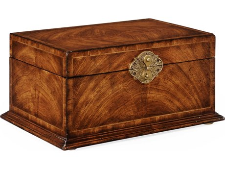 Jonathan Charles Windsor Medium Crotch Walnut Jewelry Box JC493846CWM
