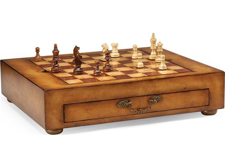 Jonathan Charles Windsor Light Walnut Game Box JC492241WLL