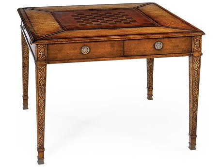 Jonathan Charles Windsor Medium Walnut 43 Square Game Table JC492242WAL