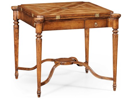 Jonathan Charles Windsor Medium Walnut 33.5 Square Game Table JC492264WAL