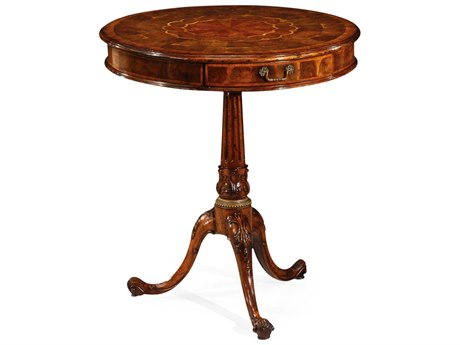 Jonathan Charles Windsor Medium Walnut 26.5 Round Pedestal Table