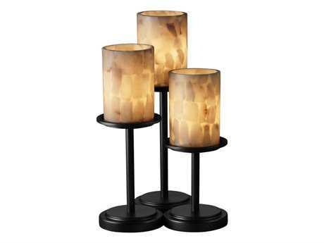 Justice Design Group Alabaster Rocks Dakota Resin Three-Light Table Lamp JDALR8797
