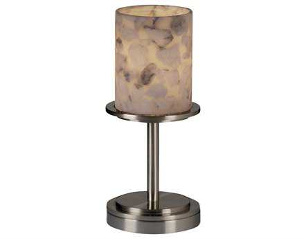 Justice Design Group Alabaster Rocks Dakota Short Resin Table Lamp JDALR8798