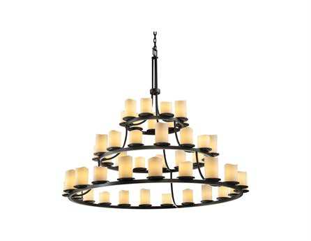 Justice Design Group Candlearia Dakota Faux Candle Resin 45-Light 60'' Wide Chandelier JDCNDL8714