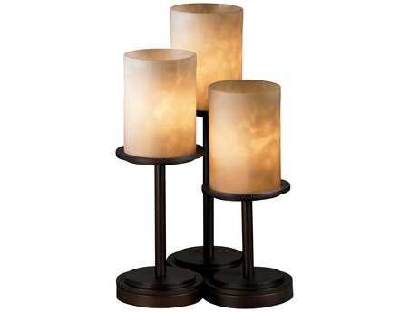 Justice Design Group Clouds Dakota Resin Three-Light Table Lamp JDCLD8797