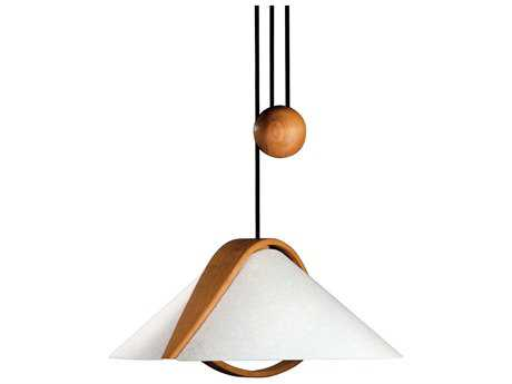 Justice Design Group Domus Arta Alder Wood Pull-Down Two-Light Mini-Pendant JDDOM8551