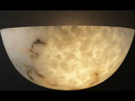 Justice Design Group Lumenaria Quarter Sphere Large Faux Alabaster Resin Two-Light Wall Sconce JDFAL1355