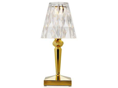 Kartell Battery Metallic Gold LED Table Lamp (Sold in 4) KAR9145GG