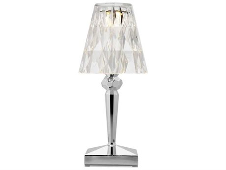 Kartell Battery Metallic Chrome LED Table Lamp (Sold in 4) KAR9145XX