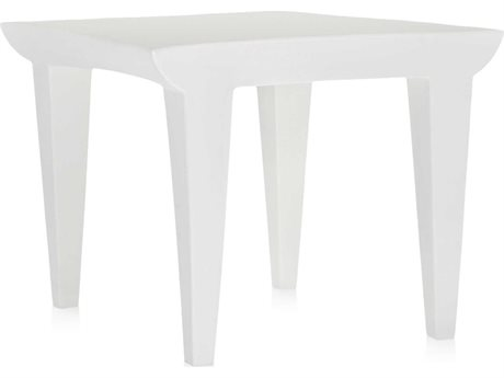 Kartell Bubble Club Zinc White 20'' Wide Square End Table KAR608060