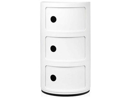 Kartell Componibili White Three-Door File Cabinet KAR496703