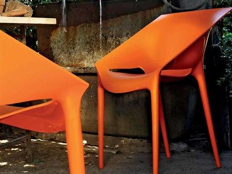 Kartell Dr Yes Orange Dining Side Chair (Sold in 2) KAR580502