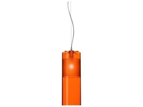 Kartell Easy Transparent Orange 5'' Wide Mini Pendant Light KAR9011W4